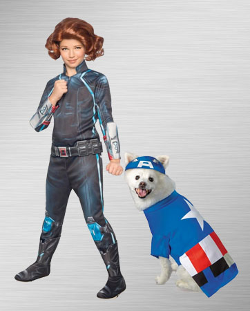 Black Widow and Captain America Dog Costume Ideas