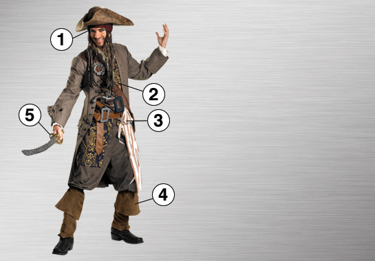 Jack Sparrow Ultimate Costume