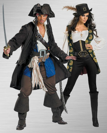 Jack Sparrow and Angelica Costume Ideas
