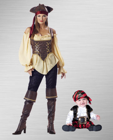 Female and Infant Pirate Costume Ideas
