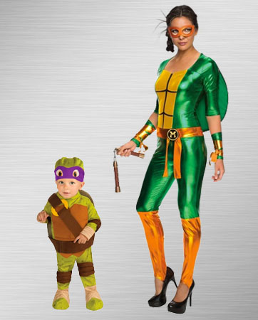 Toddler Donatello and Female Michelangelo Costume Ideas