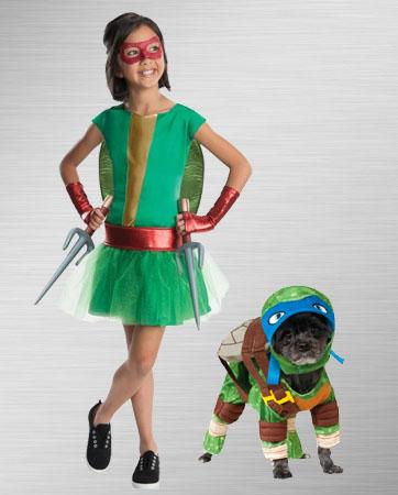 Girls Raphael and Leonardo Dog Costume Ideas