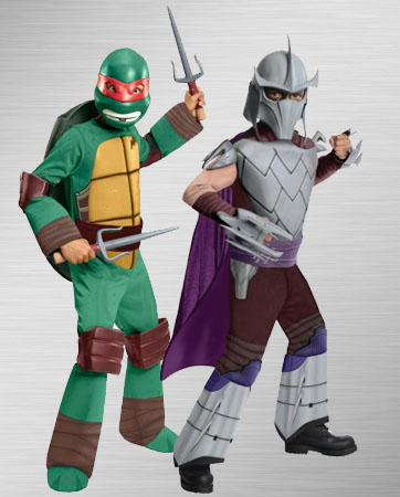 Kids Raphael and Kids Shredder Costume Ideas