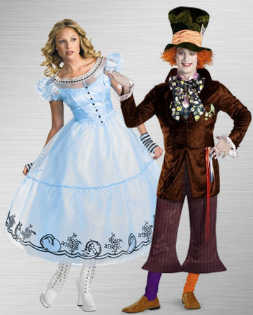 Mad Hatter and Adult Alice