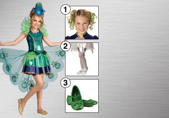Girls' Peacock Costume Ideas