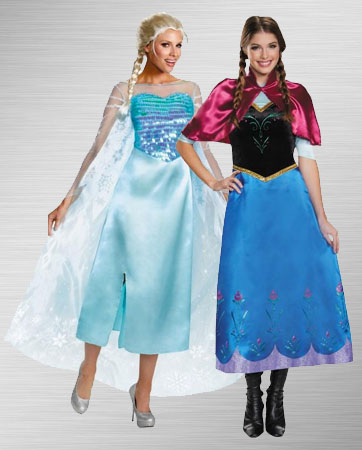 Elsa and Anna Costume ideas