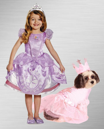 Sofia and Princess Dog Costume Ideas