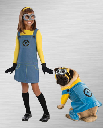 Minion Girl and Dog Costume Ideas