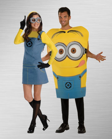 Lady Minion and Adult Dave Costume Ideas