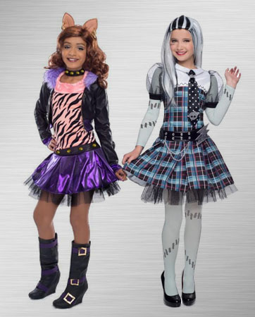 Frankie Stein and Clawdeen Costume Ideas