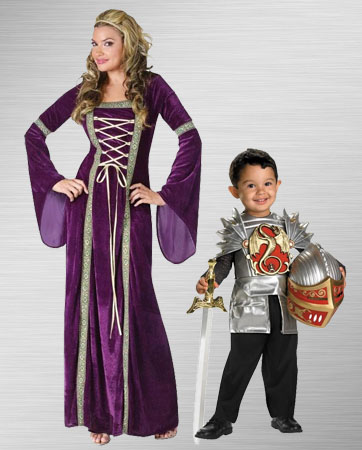 Renaissance Lady and Toddler Knight