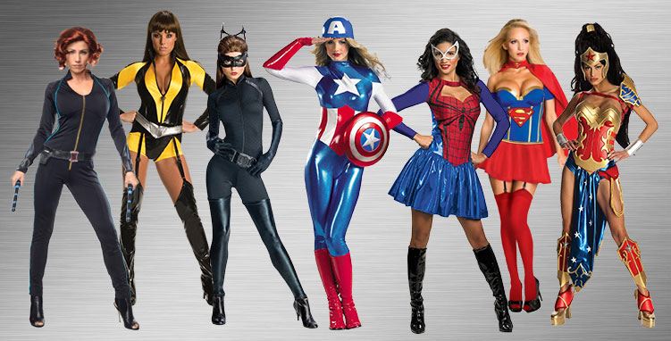 Sexy Superheroes Group Costume Ideas