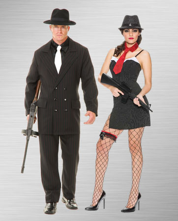 Female and Male Gangster Costume Ideas