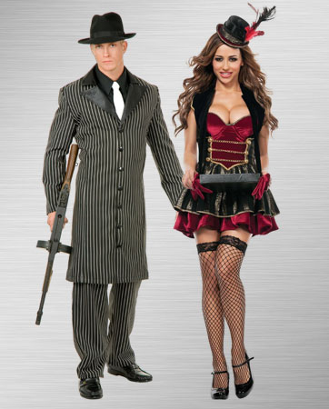 20s Mens Old Time Jacket and Cigarette Girl Costume Ideas