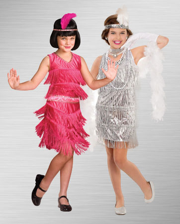 Girls Silver and Pink Flapper Costume Ideas