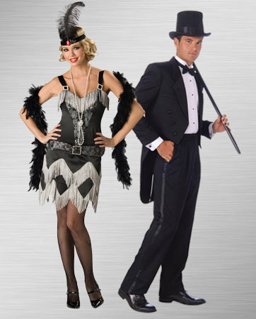 flapper and mans tuxedo costume ideas