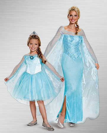 Adult Elsa and Child Elsa
