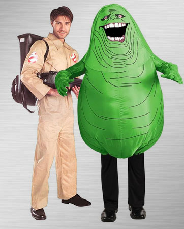 Ghostbusters Adult and Slimer Costume Ideas