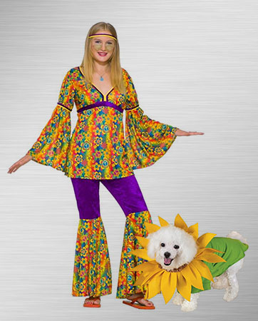 purple haze and sunflower dog costume