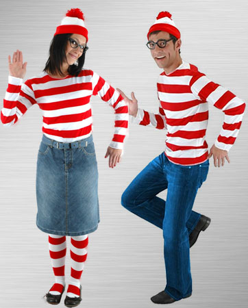 Female and Male Waldo Costume