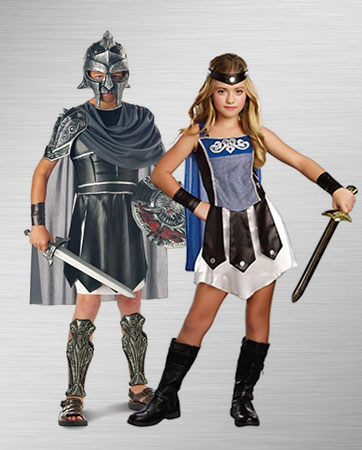 Gladiator Boy and Girl Costume Ideas