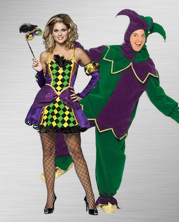 Mardi Gras Queen and Mardi Gras Jester Costume Ideas