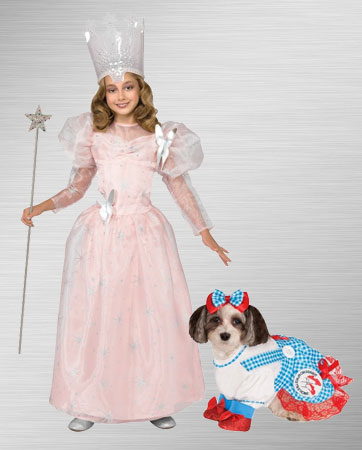 Girls Glinda and Dorothy Dog