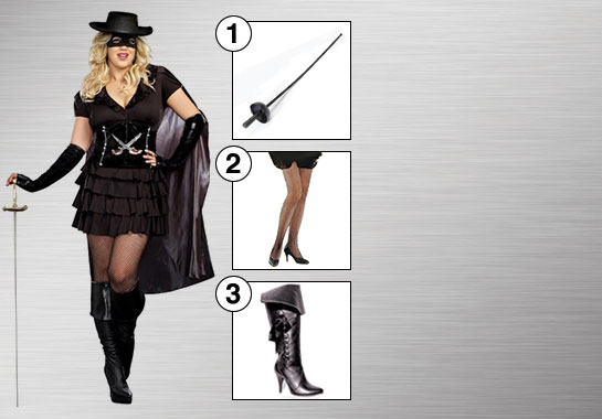 Diva Zorro Costume Accessories