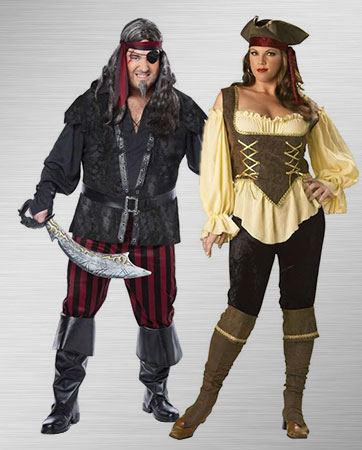 Female and Male Pirate Costume Ideas