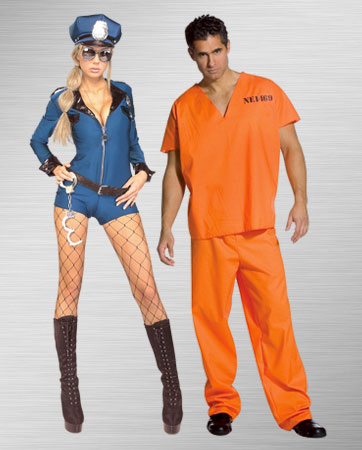 Female Police Officer and Male Orange Prisoner Jumpsuit Costume Ideas  sc 1 st  BuyCostumes.com & Police and Criminal Costumes - Halloween Costumes | BuyCostumes.com