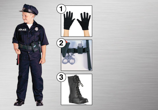 Child Police Officer Costume Accessories