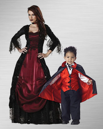 Gothic Vamprina Adult and Vampire Toddler Costume Ideas