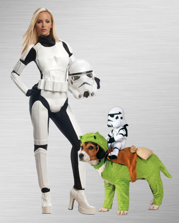Female Stormtrooper and Dog Costume Ideas