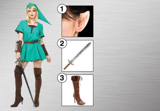 Elf Warrior Princess Costume Accessories