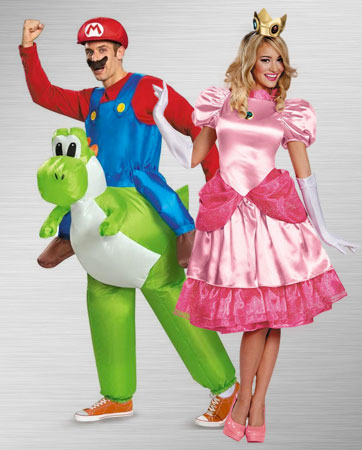 Princess Peach and Mario Costume Ideas