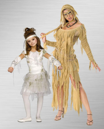 Adult Female Mummy and Girls Mummy Costume Ideas