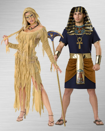Female Mummy and Egyptian Man Costume Ideas