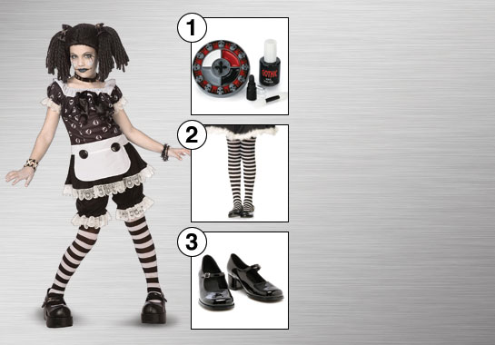 Goth Rag Doll Costume Accesories