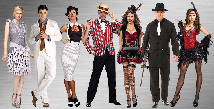 Flappers and Gangsters Group Costume Ideas