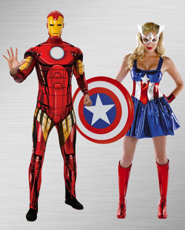 Iron Man and Female Captain America