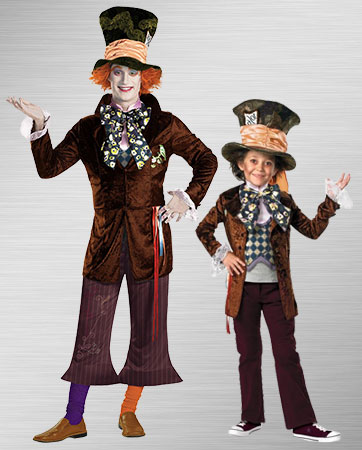 Adlt Mad Hatter and Boy Mad Hatter Costume Ideas