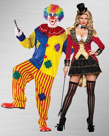 Big Top Clown and Big Top Tease Costume Ideas