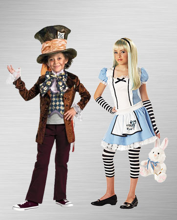 Boy Mad Hatter and Girl Alice Costume Ideas