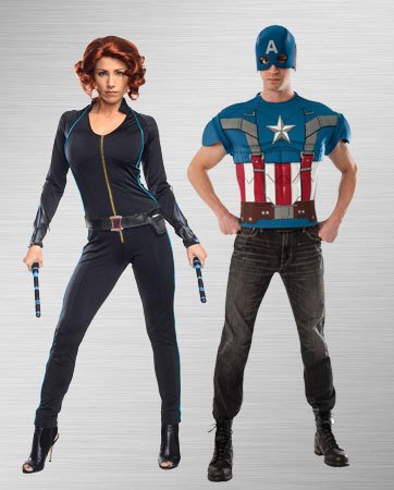 Captain America and Black Widow Costume Ideas