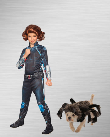 Girls Black Widow and Tarantula Dog Costume Ideas