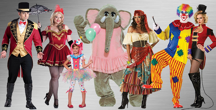 Clown Group Costume Ideas  sc 1 st  BuyCostumes.com & Clown and Circus Costumes - Adults and Kids Halloween Costumes ...