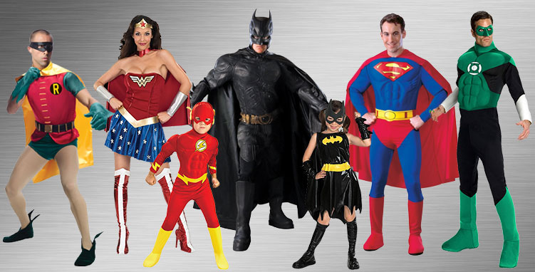 DC Superheroes Group Costumes