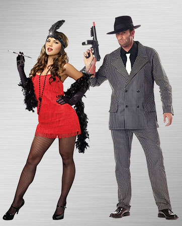 Flapper and Gangster Costume Ideas