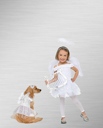 Angel Girl and Dog Costume Ideas