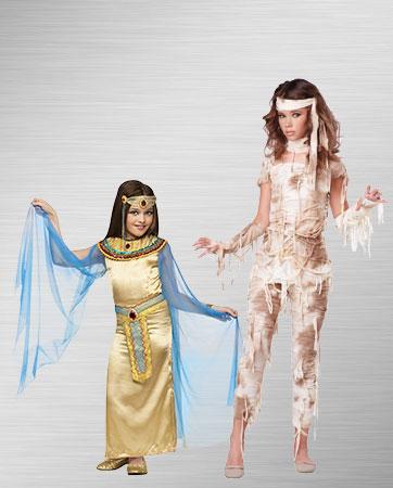 Girls Cleopatra and Mummy Costume Ideas